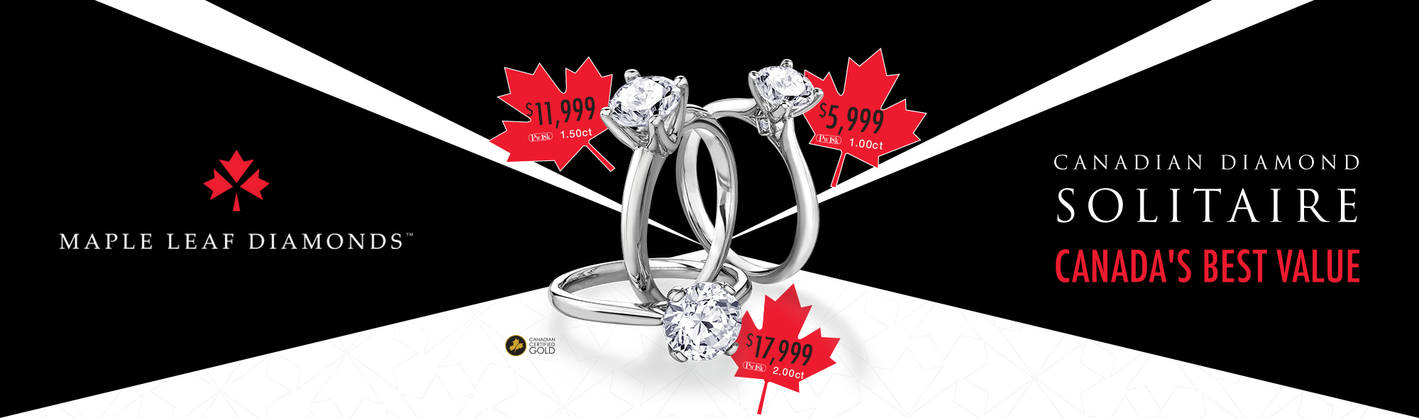 Maple Leaf Diamonds - Solitaire