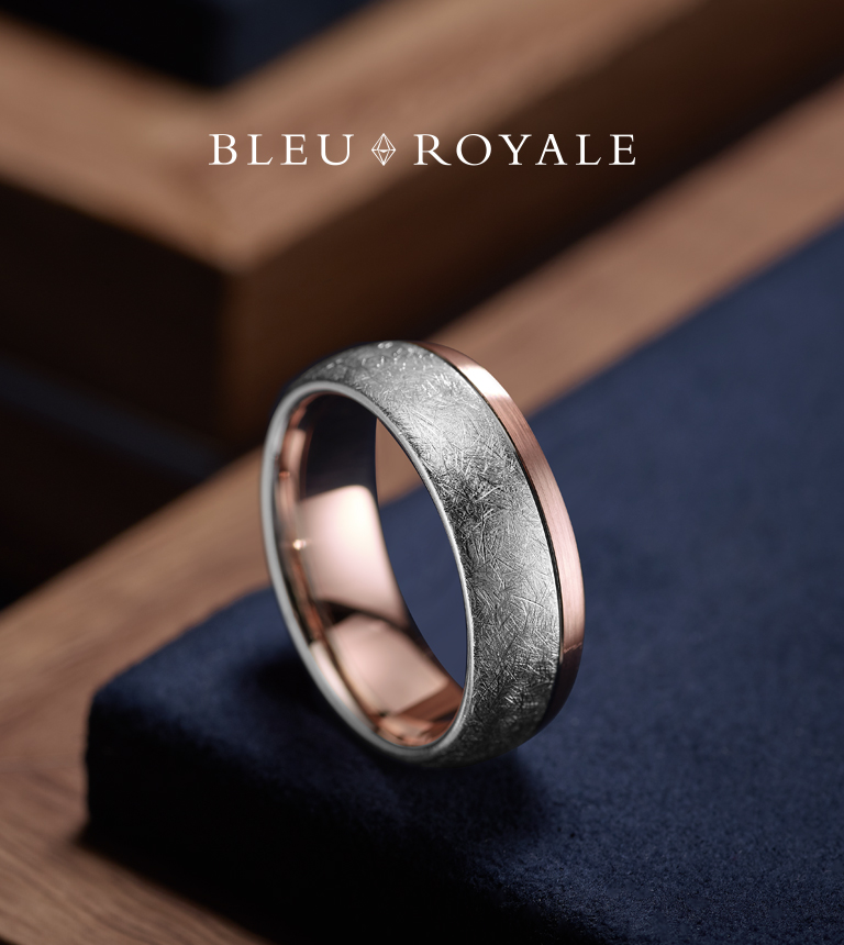 Bleu Royale - Mitchell & Jewell Wedding Bands, Red Deer, Alberta